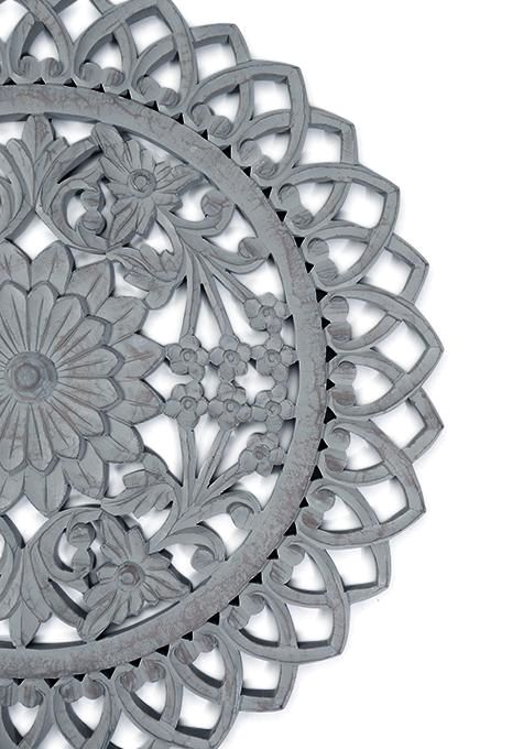 Carved Flower Wall Art