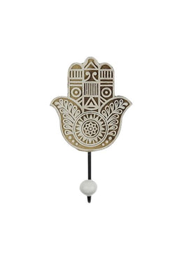 Carved Hamsa Coat Hook