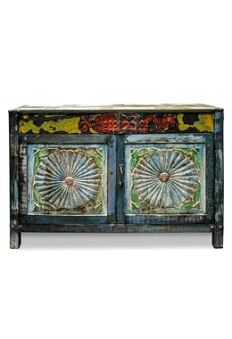 Carved Recycled Cabinet