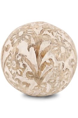 Carved Wooden Ball - Small
