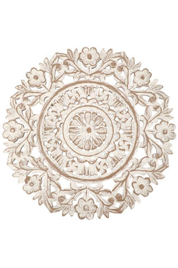Carved Wooden Flower Panel