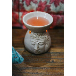 Ceramic Buddha Face Oil Burner
