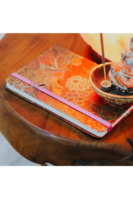 Chinese Floral Foil Notebook