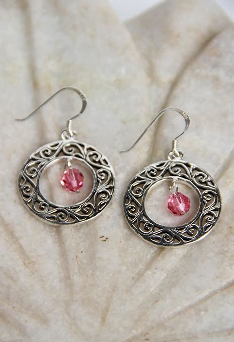 Circle Swirl Earrings