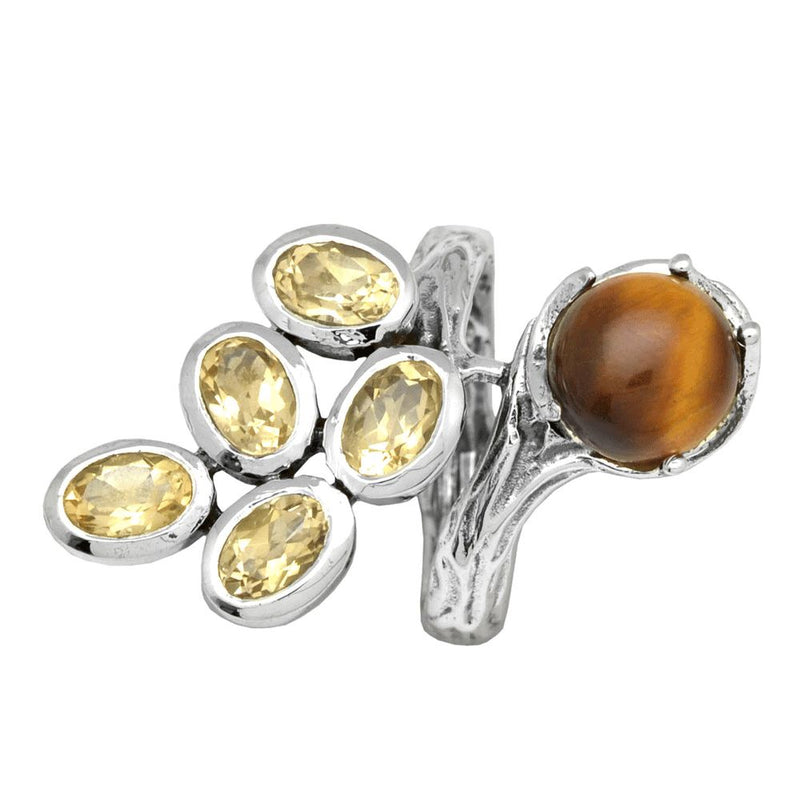 Citrine & Tiger's Eye Fantasy Ring