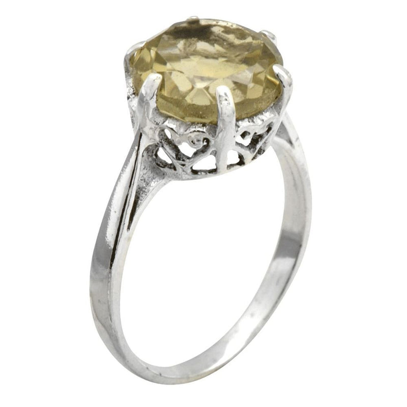 Claw Set Citrine Ring