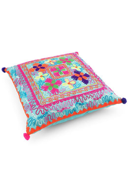 Clover Embroidered Cushion