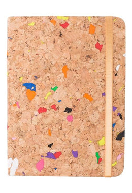 Coloured Cork Notebook