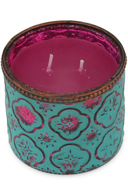 Colourful Boho Candle Glass