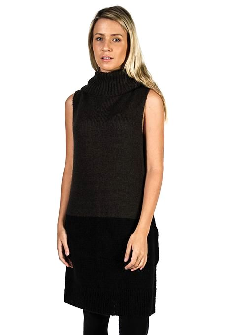 Contrast Knit Tunic