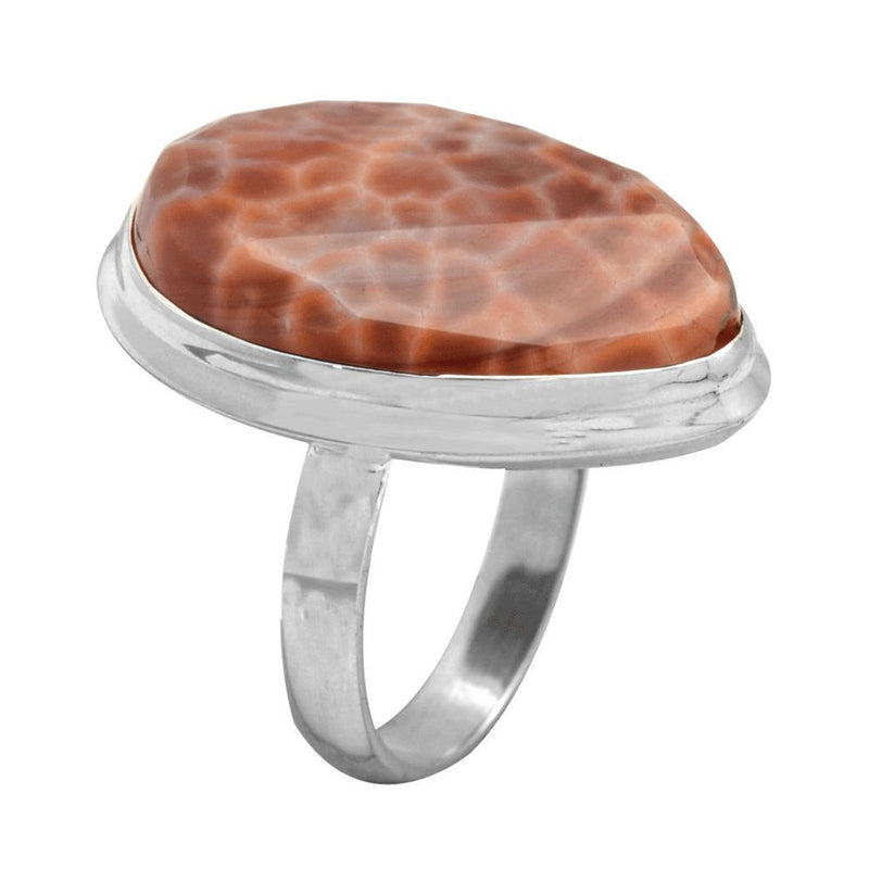 Crab Agate Ring