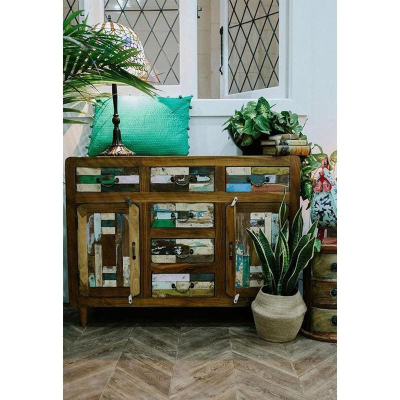 Curved Recycled Sideboard