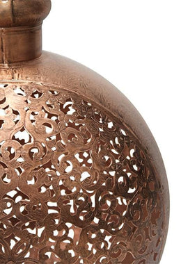 Cutwork Antique Copper Candle Holder