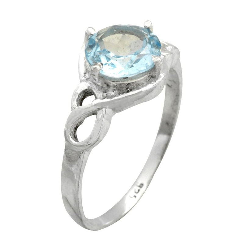 Dainty Blue Topaz Ring