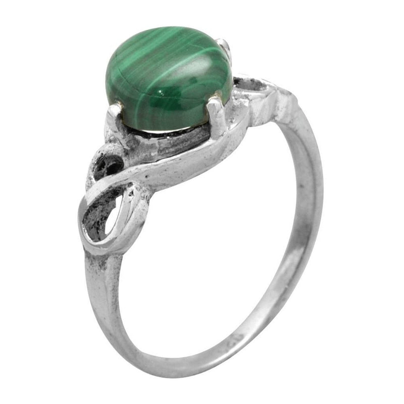 Dainty Malachite Ring  Ring Size 7