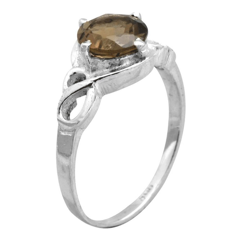 Dainty Smoky Quartz Ring