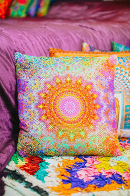Digital Kaleidoscope Print Cushion
