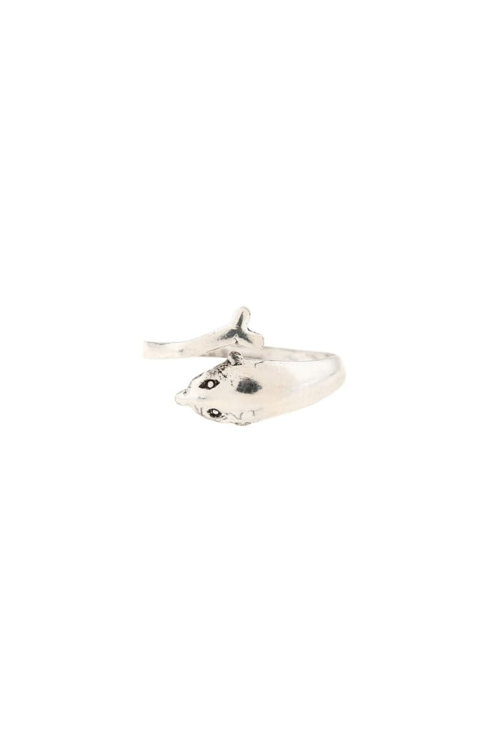 Dolphin Wrap Silver Toe Ring