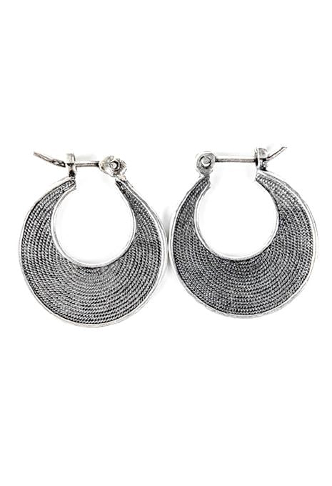 Dotted Flat Hoops