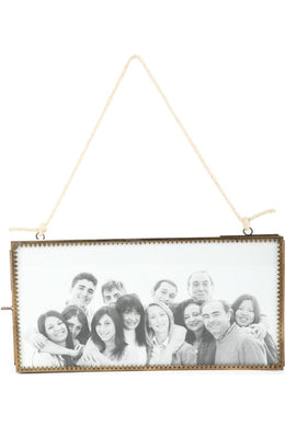 Double-Sided Hanging Jute Fretwork Photo Frame - 30Cm
