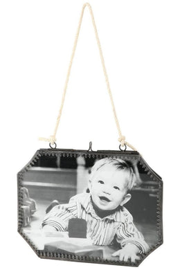 Double-Sided Hanging Octagonal Photo Frame