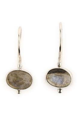 Earrings Oval Labradorite