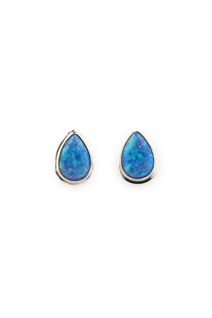 Earrings Stud Simple Setting Teardrop Opalite