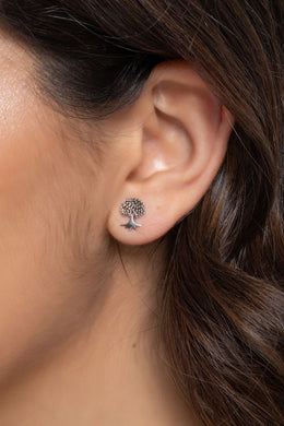 Earrings Studs Dainty Tree Of Life