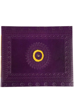 Embossed Purple Leather Photo Album