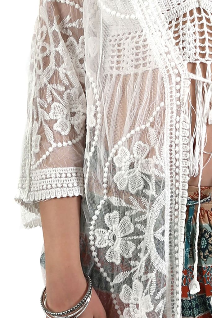 Embroidered Mesh Jacket