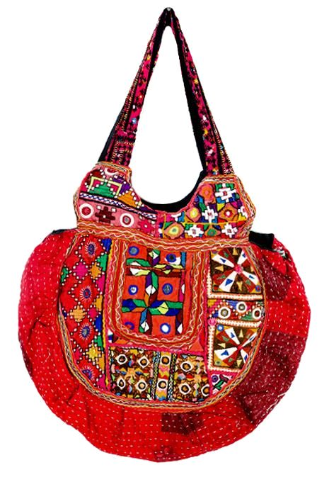 Embroidered Round Bag