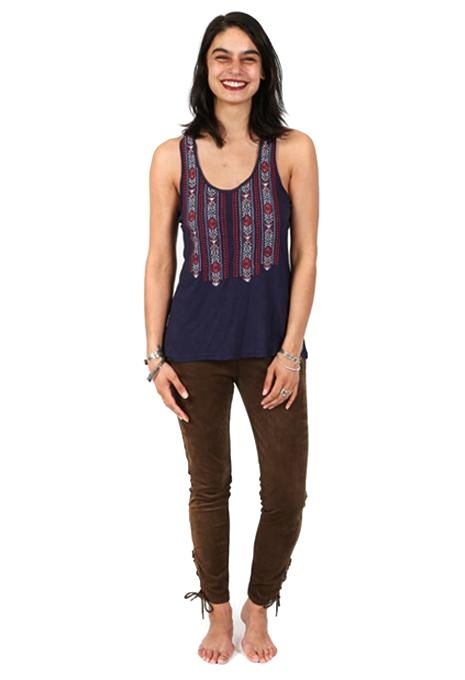Embroidered Yoke Tank