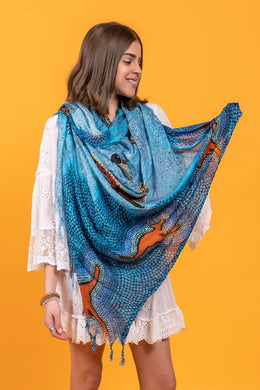 Emu On The Milky Way Yarramunua Scarf