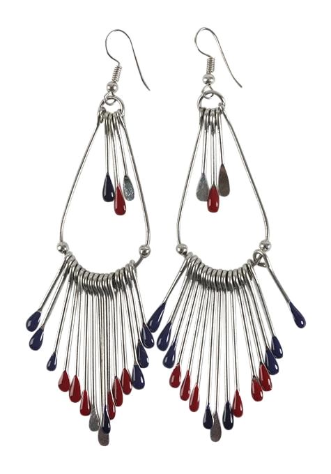 Enamel Fringe Earrings