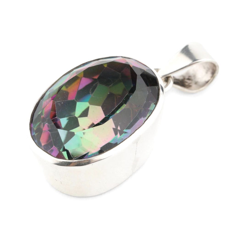 Faceted Mystic Topaz Pendant