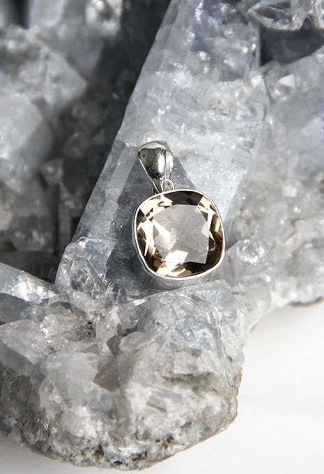 Faceted Smokey Quartz Pendant