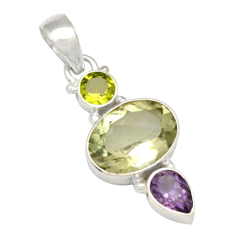 Faceted Tri-Stone Pendant