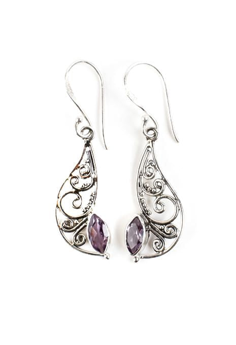 Filigree Amethyst Earrings