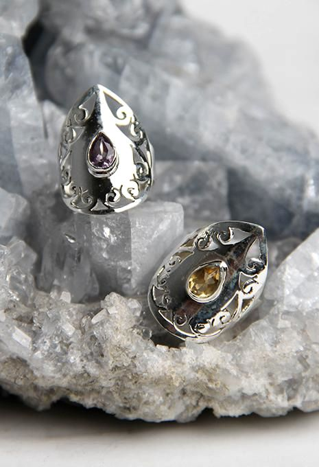 Filigree Teardrop Ring