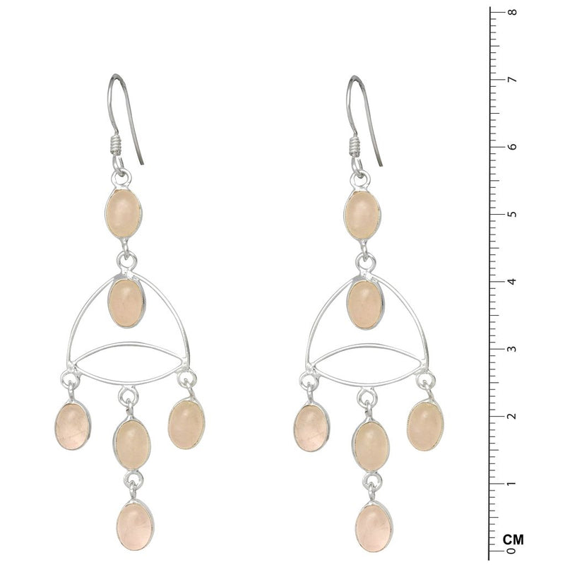 Fine Drops Rose Quartz Earrings