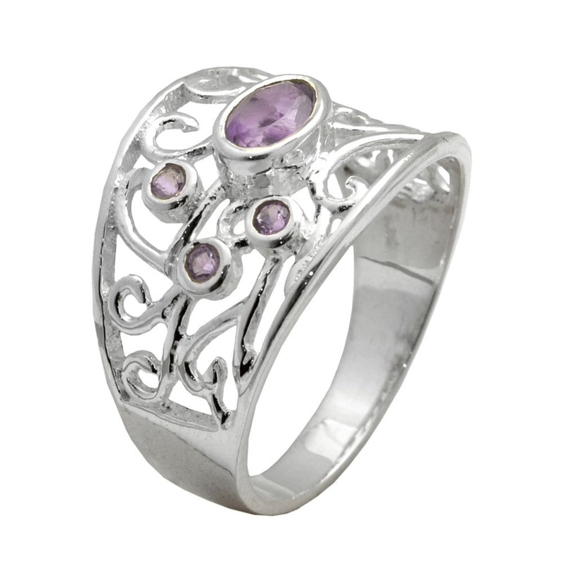 Fine Filigree Amethyst Ring