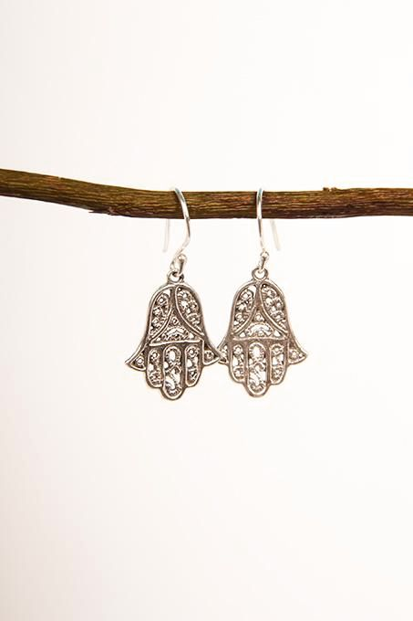 Fine Hamsa Earrings