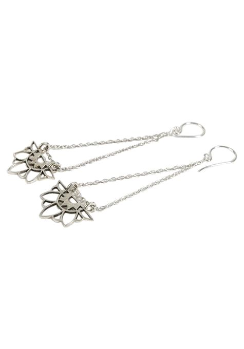 Fine Lotus Earrings