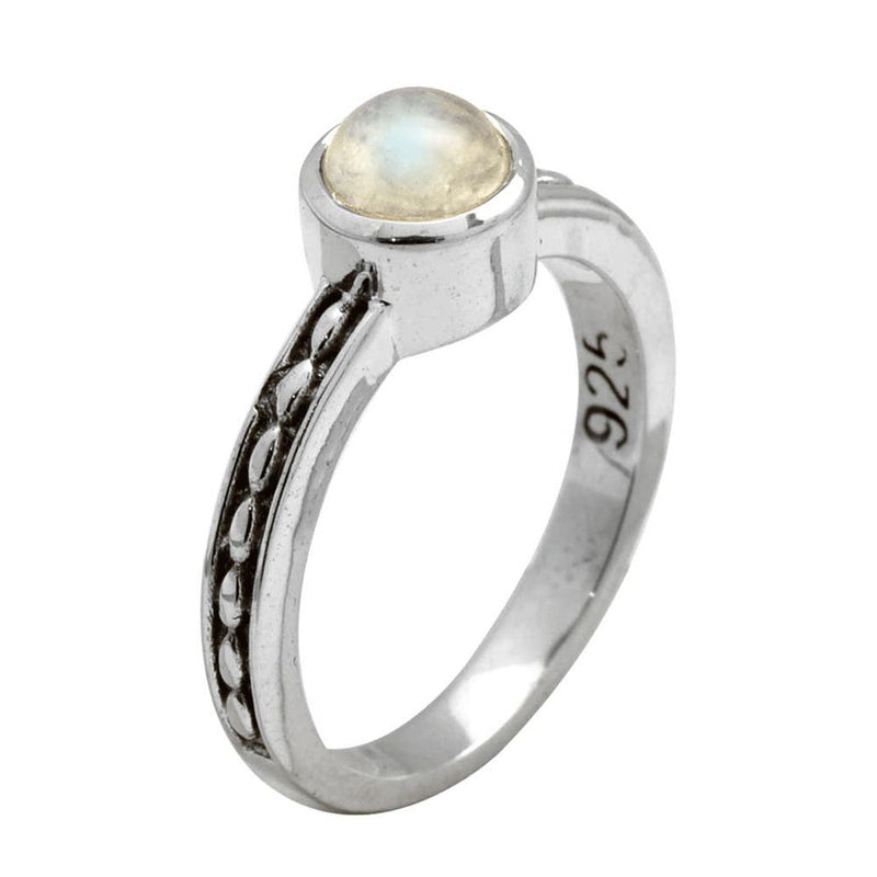 Fine Rainbow Moonstone Ring