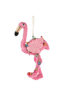 Flamingo Hanging Felt Decoration