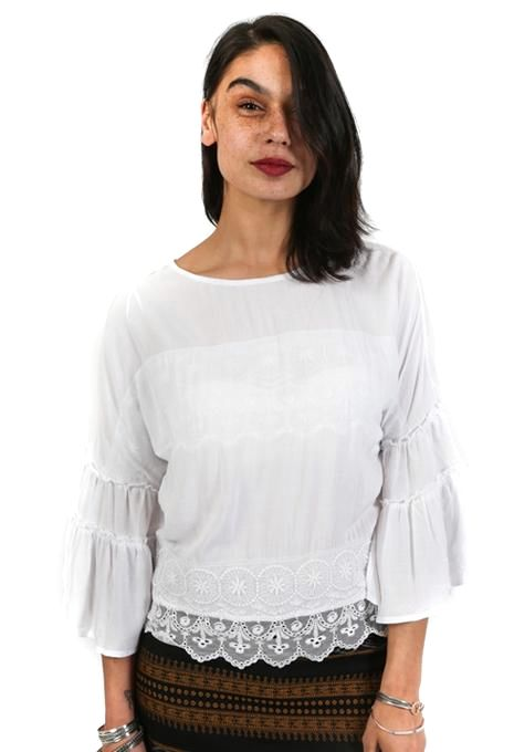 Floaty Lace Trim Top