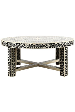 Floral Bone Inlay Coffee Table