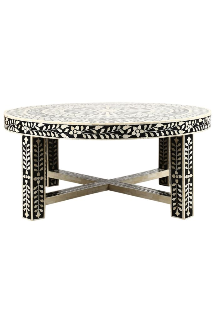 Awesome Floral Bone Inlay Coffee Table Dailytribune Chair Design For Home Dailytribuneorg