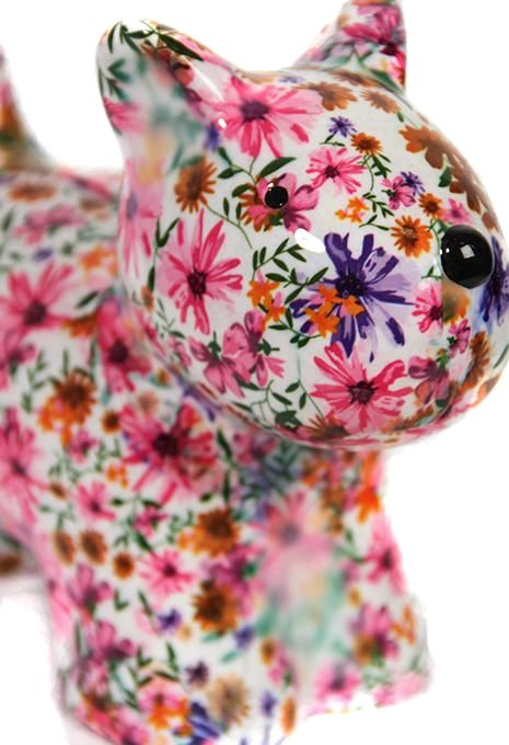 Floral Dog Money Box