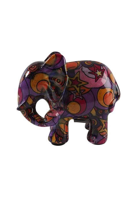 Floral Elephant Money Box